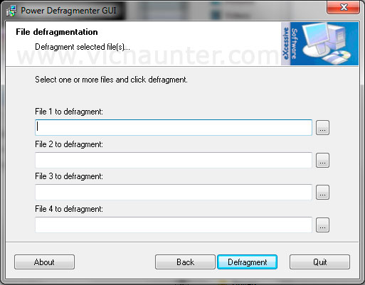 power defragmenter gui