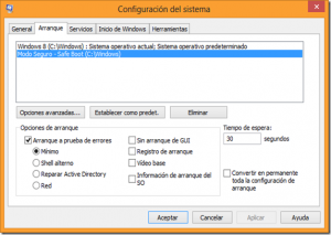 msconfig arranque windows 8