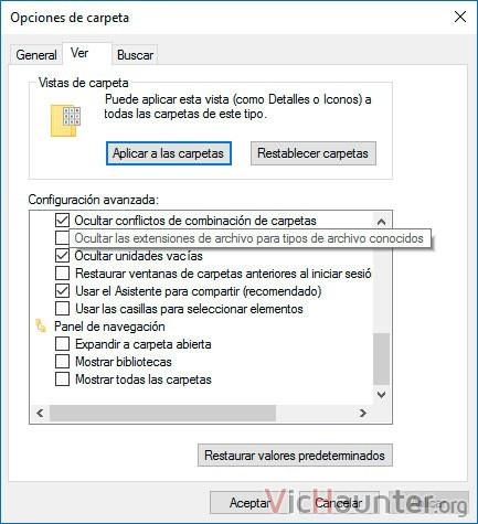 ocultar-extensiones-archivos-conocidos-windows-10