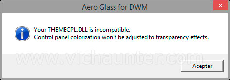 otro error aero glass windows 8.1