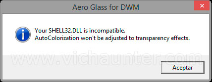 aero glass windows 8.1 shell error