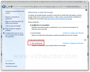 alto rendimiento windows 7