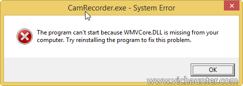 WMVCore.DLL is missing from your computer