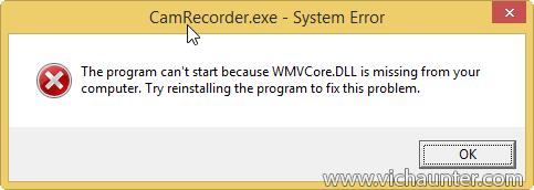le programme wmvcore.dll
