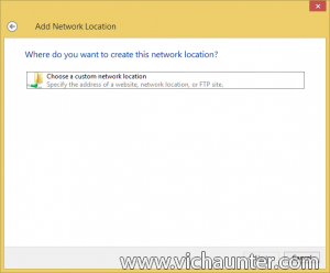 choose custom network location skydrive