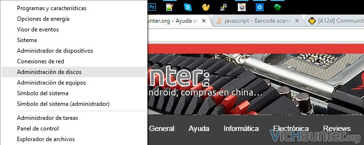 Mostrar el menú avanzado de Windows 10