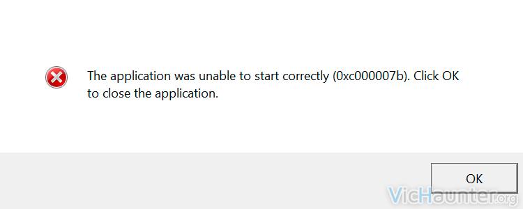 Como solucionar error 0xc00007b