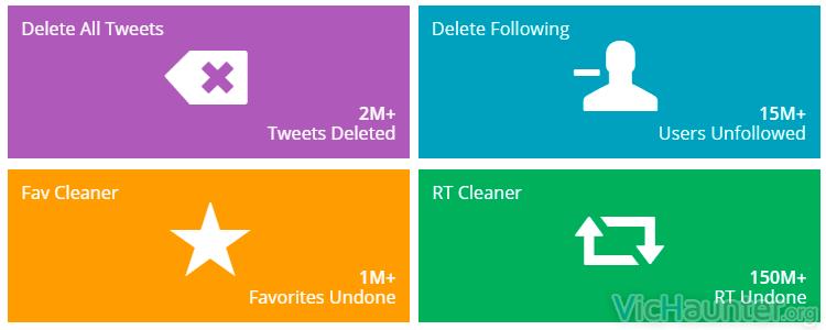 Como eliminar el contenido de una cuenta de twitter