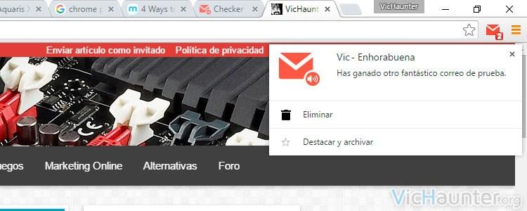 Como recibir notificaciones de varias cuentas de gmail en el escritorio