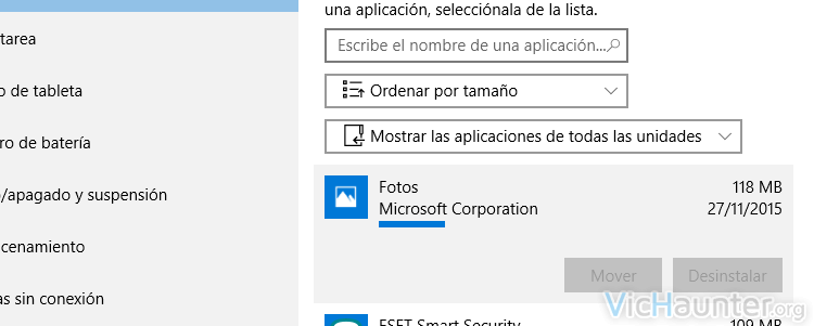 mover aplicaciones windows 10 memoria externa usb