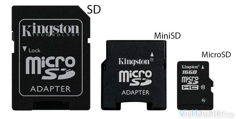 5 tipos de tarjetas de memoria