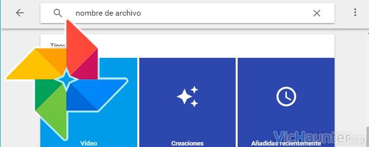 Cómo hacer búsquedas en Google Photos por nombre de archivo