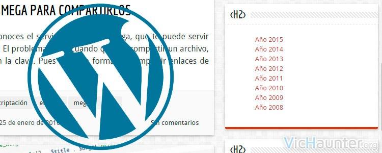 Cómo modificar el título de los widgets en Wordpress