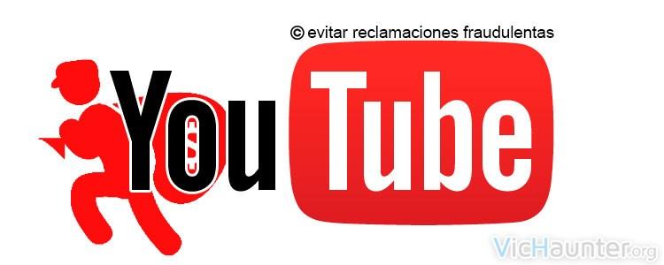 Eliminar reclamaciones de derechos de autor fraudulentas en youtube