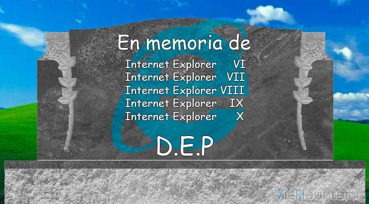 Finaliza soporte para Internet explorer 7, 8, 9 y 10