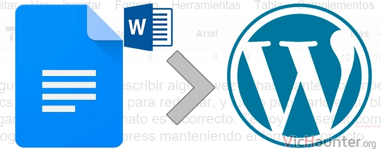 Cómo copiar de google docs a Wordpress