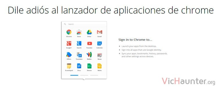 Google chrome elimina el app launcher