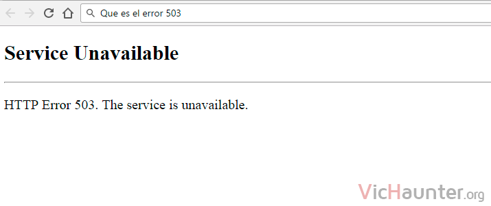 Error 503 Service Unavailable