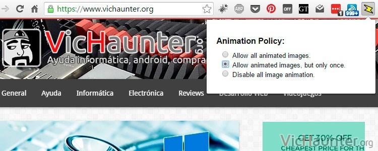 Cómo desactivar los gifs animados en el navegador