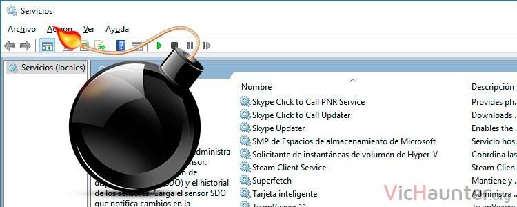 Como eliminar servicios de windows 10