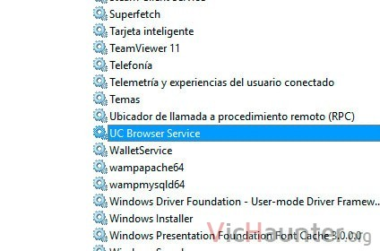 servicio windows 10