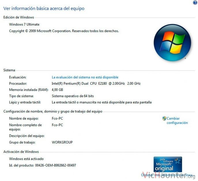 windows 7 validado original