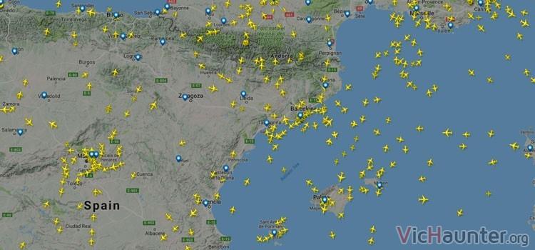 Mapa Con El Tráfico Marítimo Mundial En Tiempo Real Y Aéreo Vichaunter Org