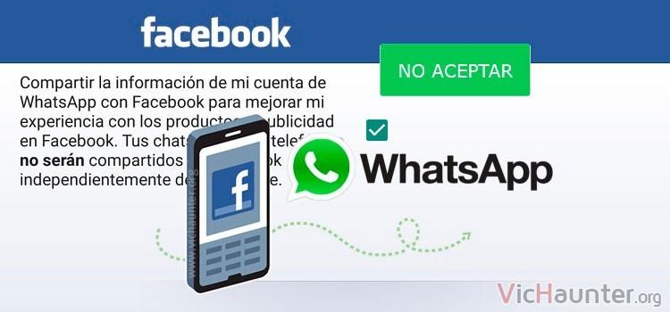 Como evitar compartir con facebook el número de whatsapp