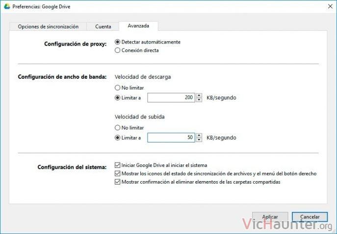 limitar-ancho-banda-google-drive