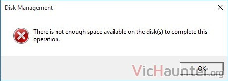 not-enough-space-available-on-the-disk-to-complete-this-operation