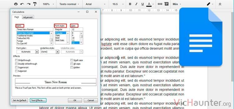 Cómo modificar los estilos de párrafo y texto predeterminados en google docs