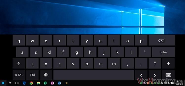 Cómo fijar la barra de herramientas de Windows 10 con el teclado en pantalla