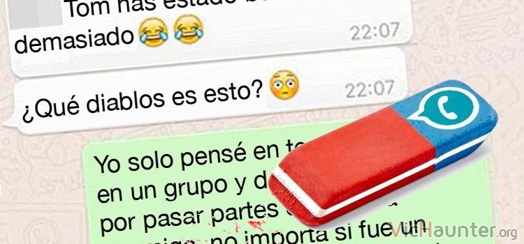 Cómo borrar el historial de una sola conversación de whatsapp