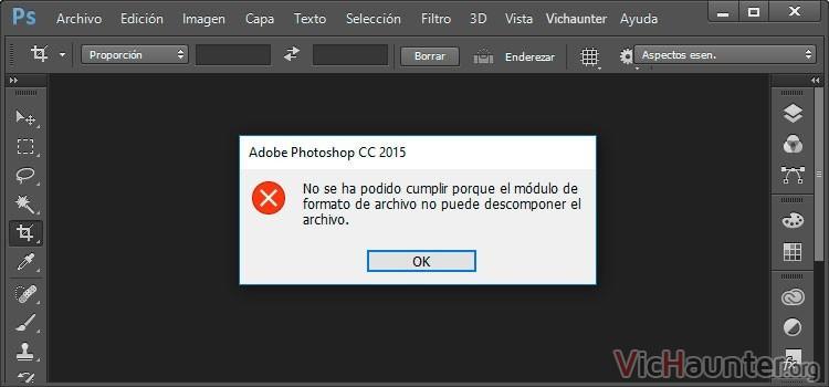 Cómo arreglar imagen con error descomponer en photoshop