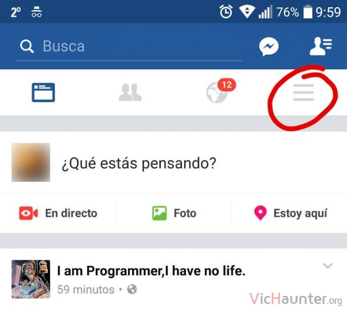 android-facebook-menu