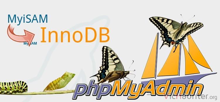 Cómo cambiar el motor de base de datos a InnoDB