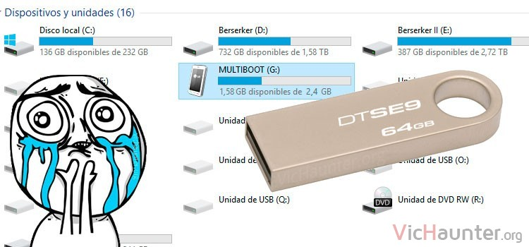 Cómo recuperar sitio en microsd o usb pendrive windows