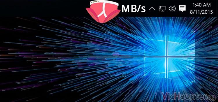 Cómo ver la velocidad de descarga en la barra de tareas