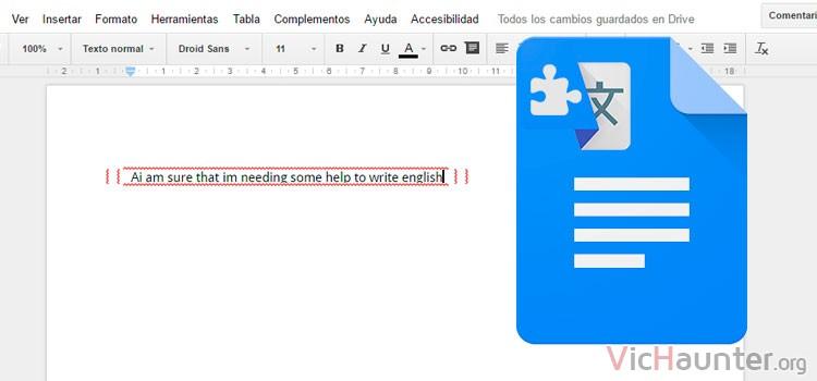Cómo escribir inglés en google docs sin saber