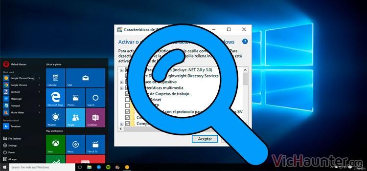 Cómo agregar o quitar características de windows 10