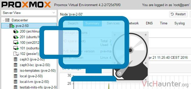 Cómo montar discos duros o carpetas en máquinas virtuales con proxmox