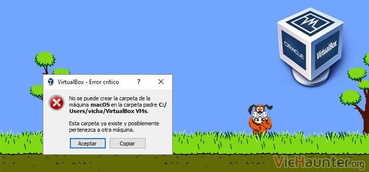 Cómo arreglar error no se crea carpeta virtualbox