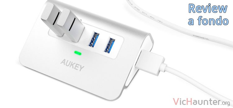 Análisis a fondo del hub usb3 de 4 puertos Aukey