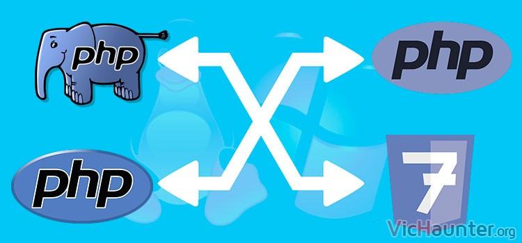 Cómo cambiar entre versiones de php en linux y windows subsistem linux
