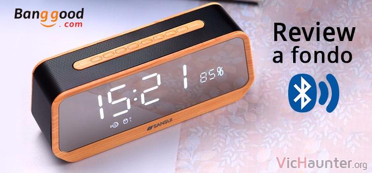 Análisis completo del altavoz reloj bluetooth sansui t26