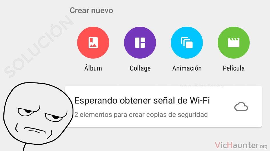 Cómo solucionar esperando wifi google photos