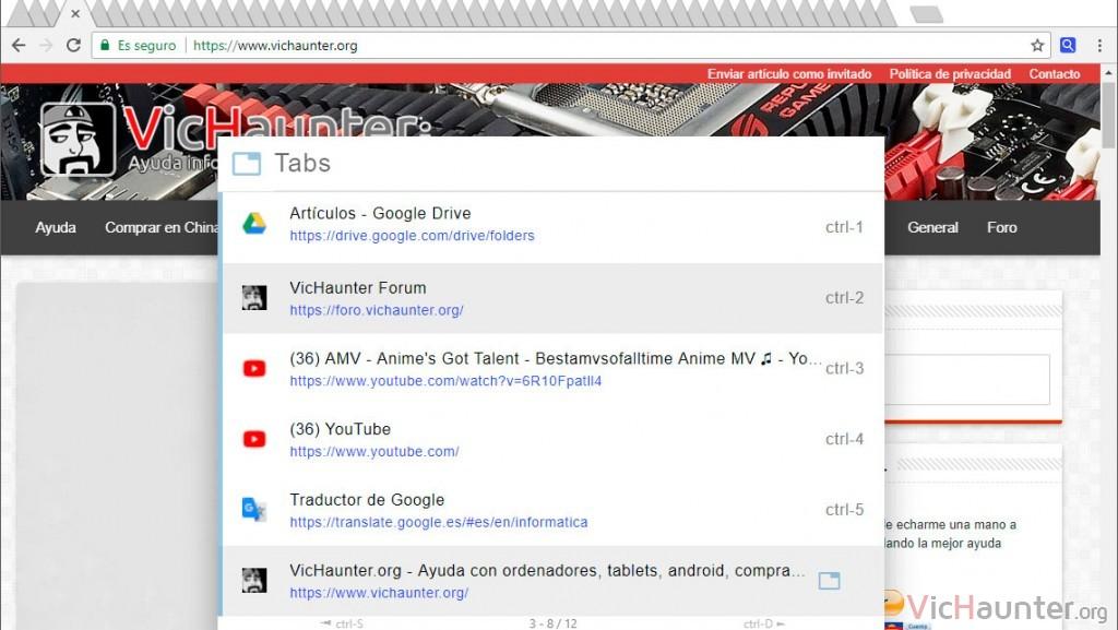 Cómo buscar en pestañas abiertas de Chrome