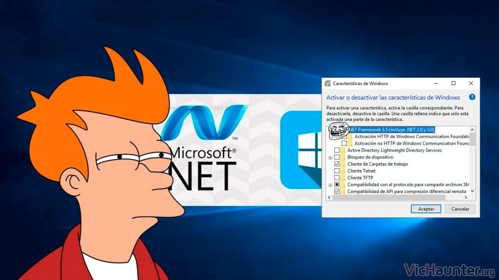 Cómo activar NET Framework 3.5 en Windows 10 desde la directiva de grupo