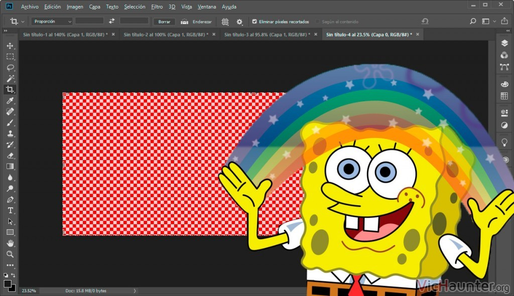 Cómo configurar la rejilla de transparencia de photoshop