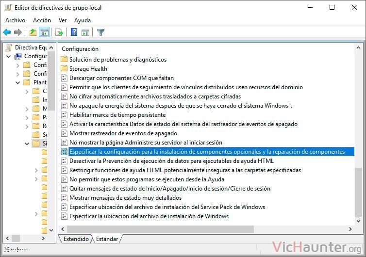 sistema-especificar-configuración-instalacion